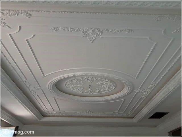 ديكورات جبس اسقف راقيه كلاسيك 2   Classic Gypsum Ceiling 2