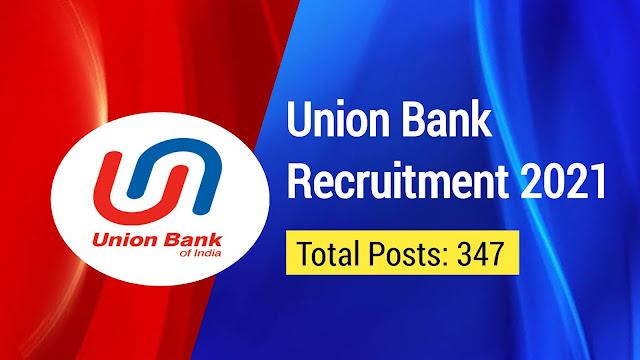 Union Bank of India Recruitment 2021: