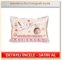 Bebeklere Özel Fotoğraflı Yastık