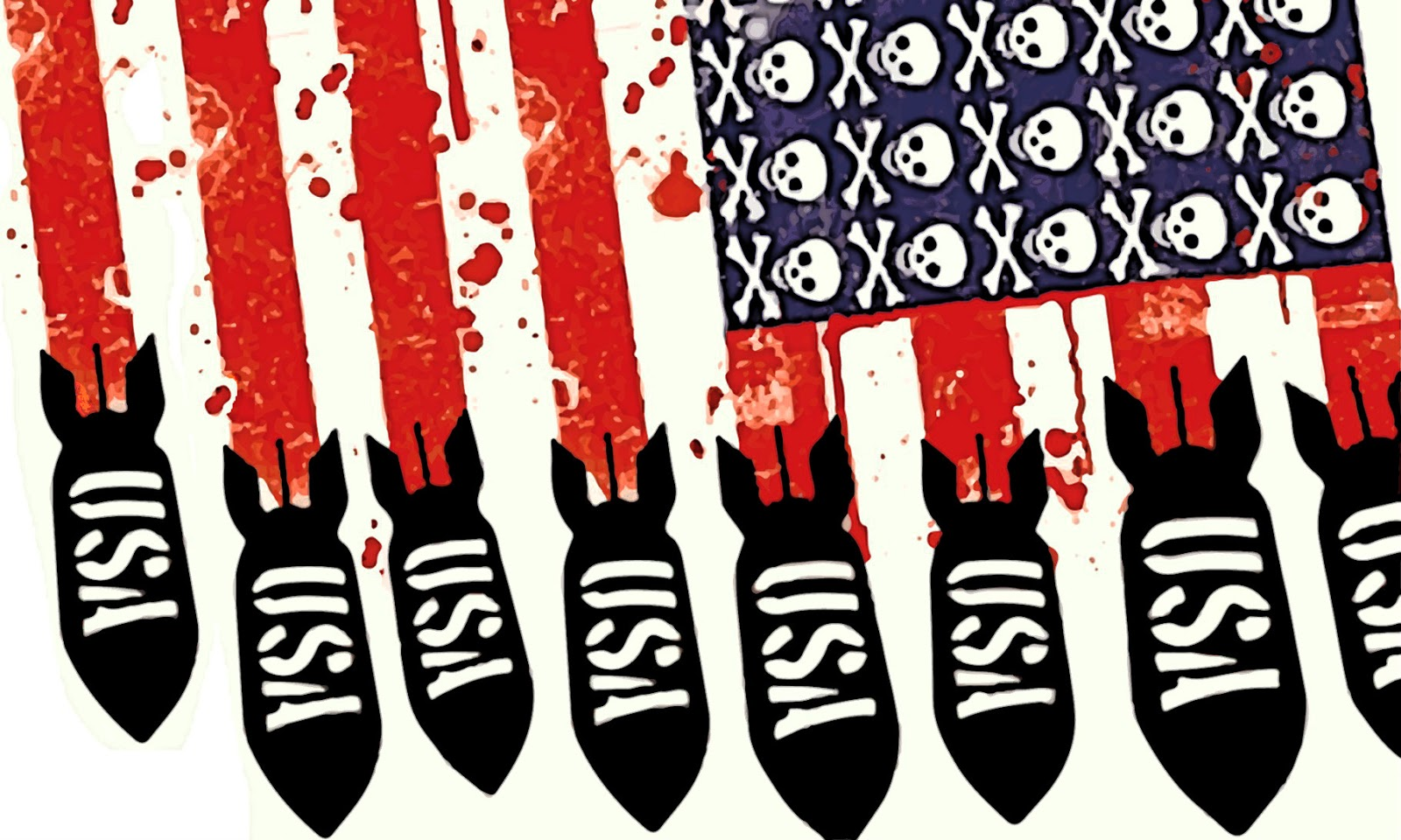 Estados Unidos y la guerra - Marcelo Colussi - publicado en enero de 2019 Imperialismo-bombas
