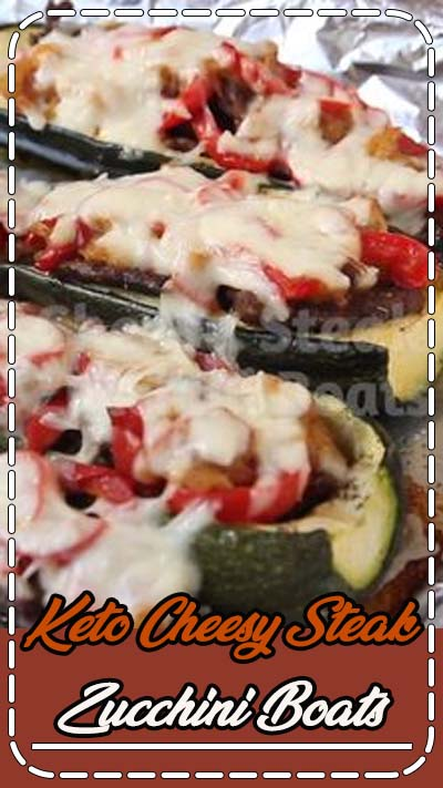 Cheesy Steak Zucchini Boats Low Carb Recipe for Keto Diet