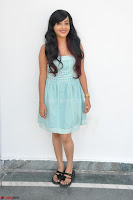Sahana New cute Telugu Actress in Sky Blue Small Sleeveless Dress ~  Exclusive Galleries 010.jpg