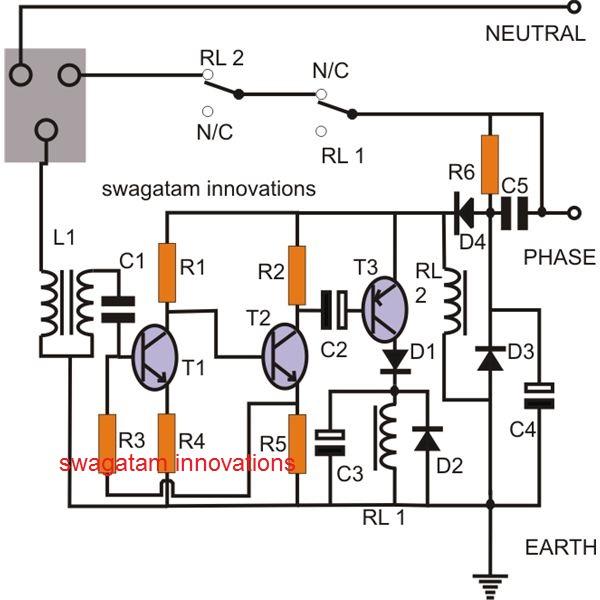Earth Leakage Circuit Breaker (ELCB) Circuit