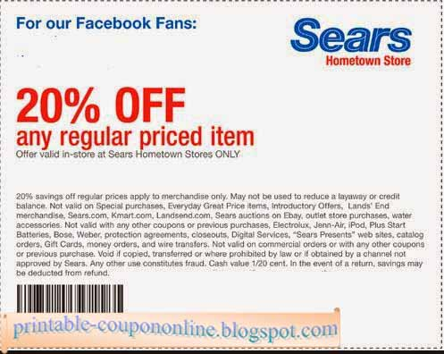 $10 Off Sears Coupon. Real talk, this is one of the best Sears coupons we've seen recently. Present this code in-store at checkout, or enter the promo code online at checkout, and instantly get $10 off purchases of $ or more, storewide/5(26).