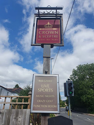Crazy Golf at the Crown & Sceptre pub in Abergavenny by Simon Brown. July 2020