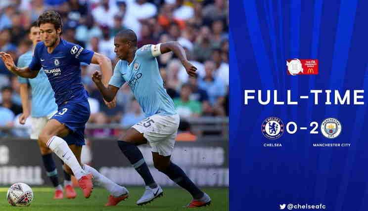 Hasil Chelsea vs Manchester City Skor Akhir 0-2 [Final FA Community Shield 2018]