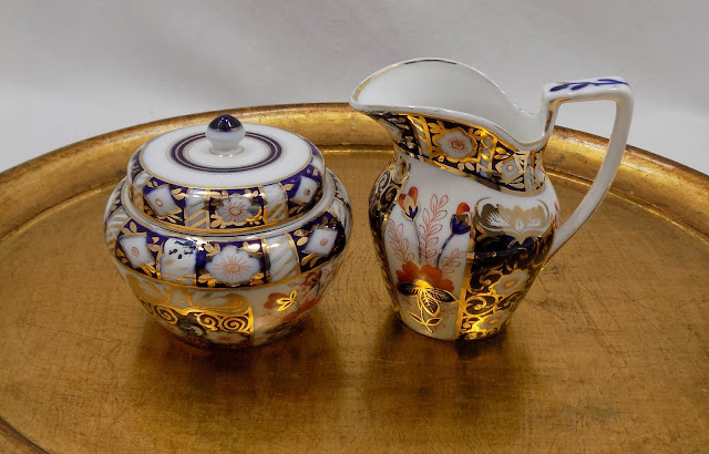 Schoenau Brothers Antique Imari Cream Jug and Sugar Bowl