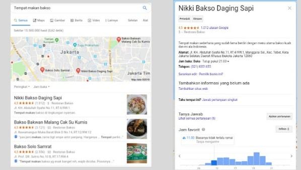 Manfaat Google Bisnisku untuk sebuah bisnis
