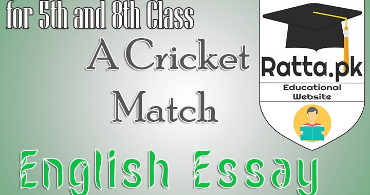a cricket match english essay for th and th class   rattapk