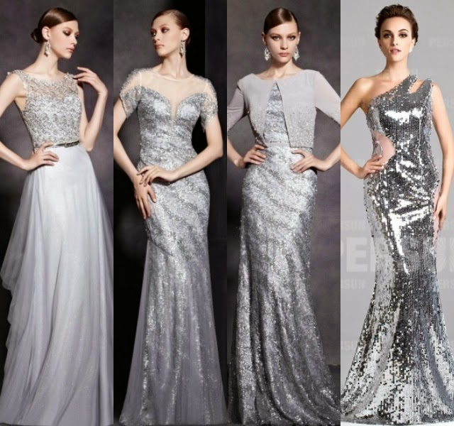 Silver Wedding Dresses For Older Brides: Brides & Bridesmaids Fashion: Sparkling Bridesmaids