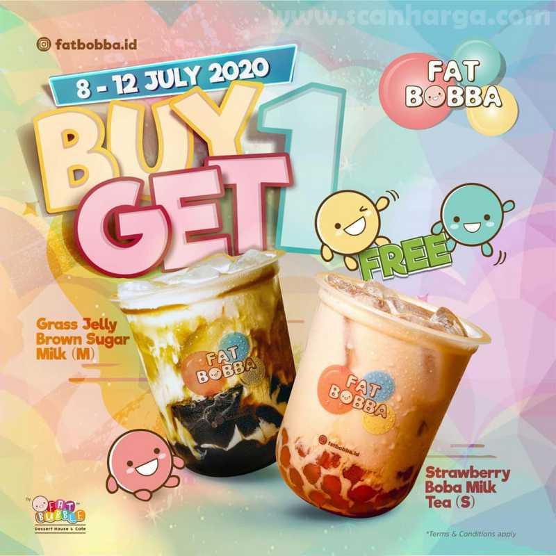 Promo Fat Bobba Terbaru Buy 1 Get 1 Free Periode 8 - 12 Juli 2020