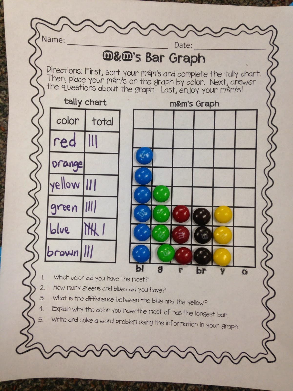 Mm Bar Graph Worksheet