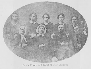 Sarah Fraser and Eight of Her Children