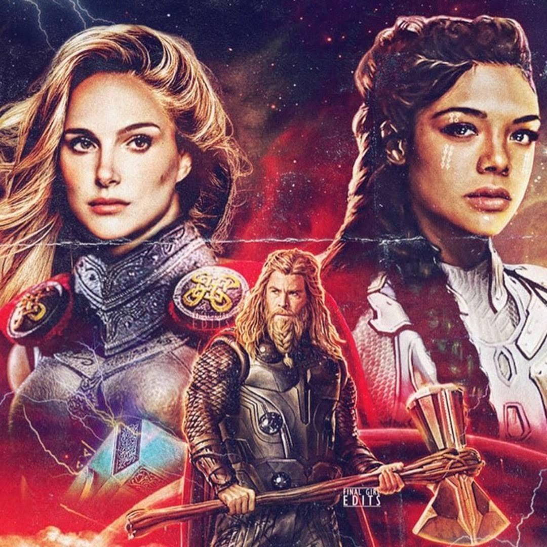 Thor : Love and Thunder fan poster by finalgirl.edits :「ソー」シリーズ第4弾の最新作「ラブ・アンド・サンダー」をイメージしてみたファンメイドのレトロなポスター ! !
