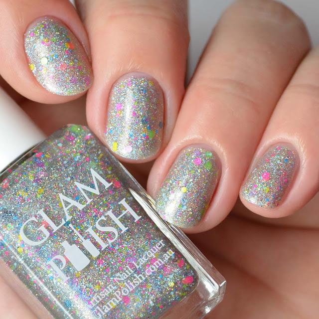 holographic neon glitter nail polish