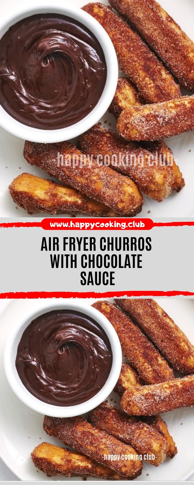Air Fryer Churros With Chocolate Sauce