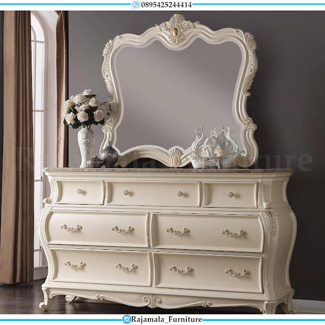 Meja Hias Mewah Ukiran Jepara Luxury Carving Set Meja Konsul Terbaru RM-0419