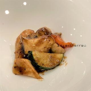 秋茸と海老の炒め02