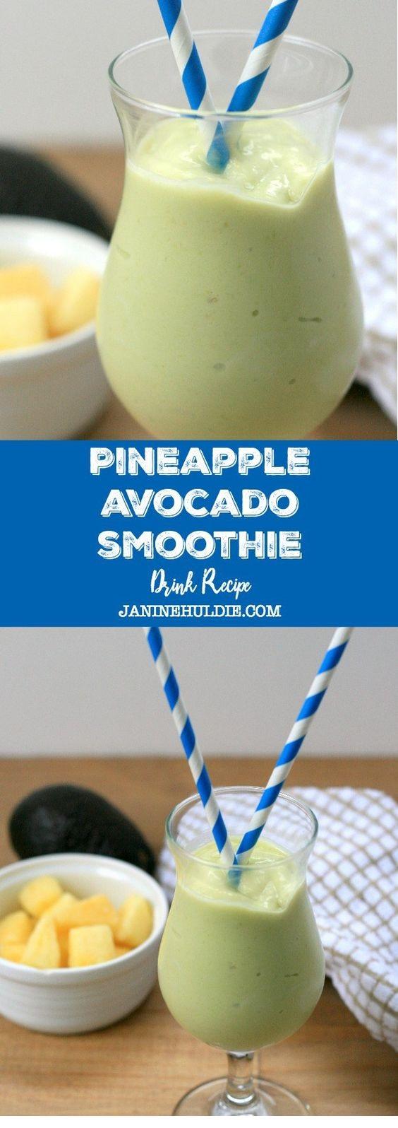 Pineapple Avocado Smoothie Drink Recipe