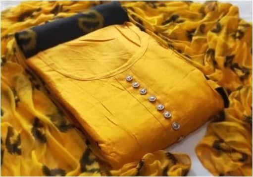 Stylish Pure Cotton Dress Material
