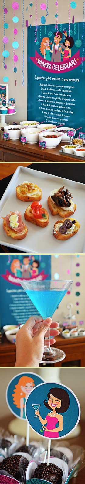 Happy Hour com buffet Self-service de Crostinis