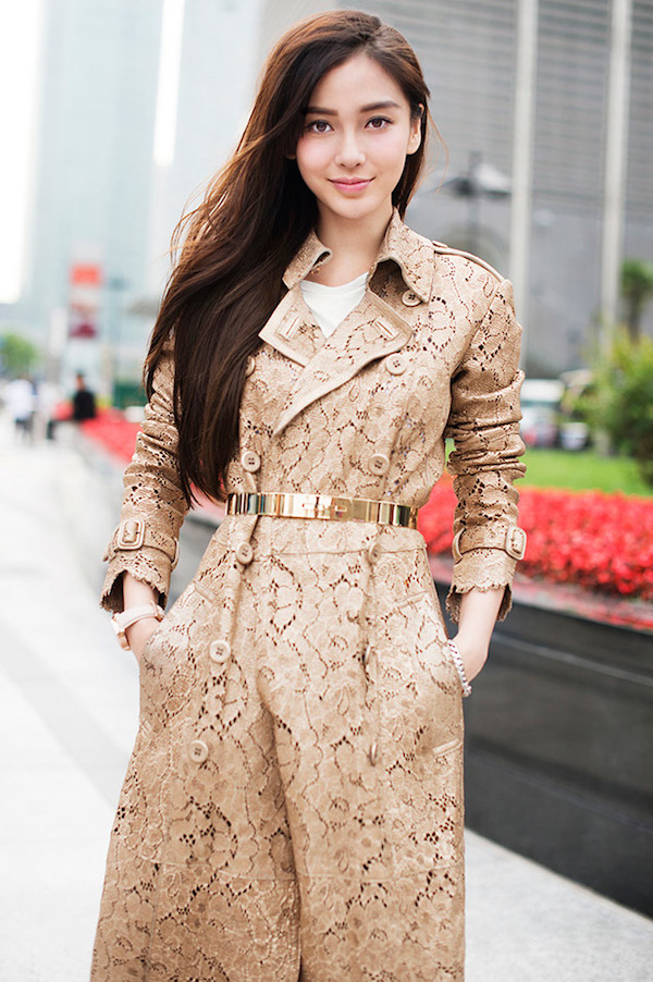 Angelababy Burberry Art Of The Trench