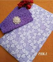 Batik ungu cantik sekalian embos satu set murah
