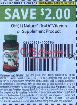 Nature's Truth $2/1 Vitamin