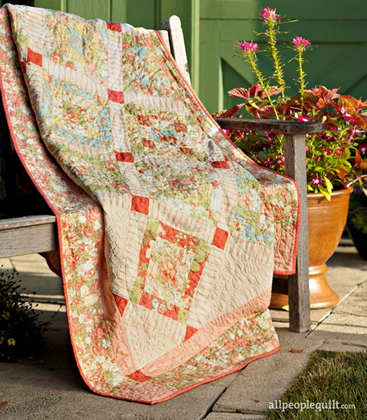 Candy Cobblestones Quilt Designed By Anne Sutton from Bunny Hill Designs of Allpeoplequilt
