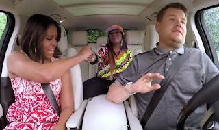 First Lady Michelle Rock n' Rolls On Carpool Karaoke!!!