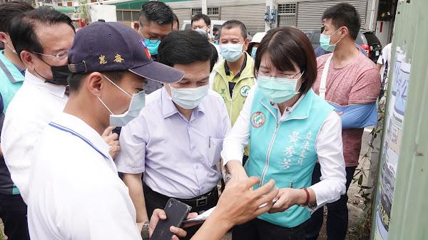 彰化市興建社會住宅「學士安居」黃秀芳邀內政部長視察