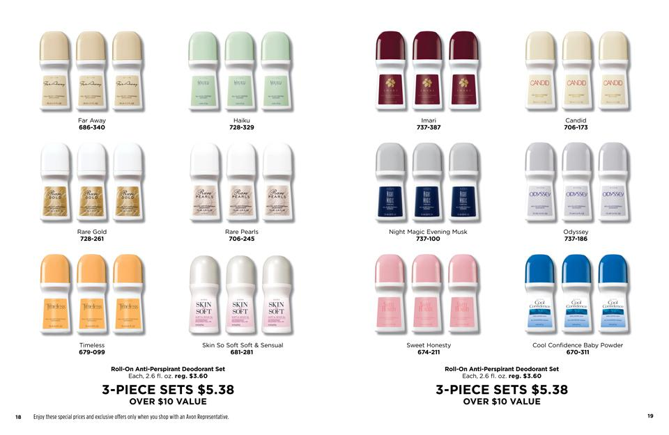 Avon Deodorant Bundle Sets - Great Value