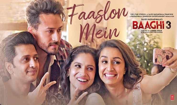 Faaslon Mein Lyrics  :- Sachet Tandon   Tiger, Shraddha, Riteish Deshmukh, Ankita