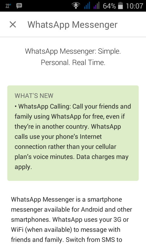 Mengaktifkan Voice Call WhatsApp Android