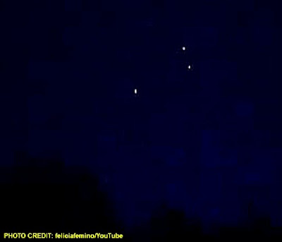 UFOs Over Plymouth MA 9PM 5-27-12