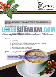 Loker Surabaya Terbaru di Bartech Cafe Juni 2019