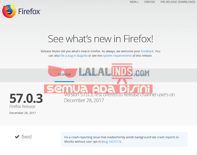 Download Mozilla Firefox 58.0.1 Offline Installer Terbaru