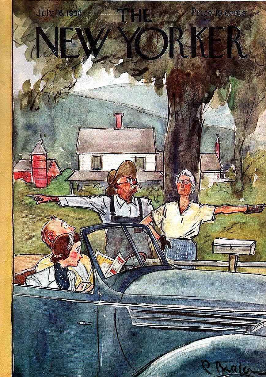 a Perry Barlow illustration for The new Yorker magazine July 16 1938