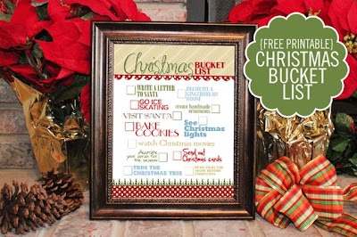 Christmas Bucket List Printable