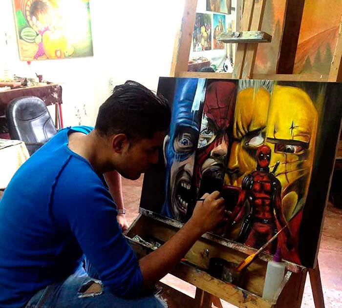 Pintura de Diego Andrés Maldonado Martínez