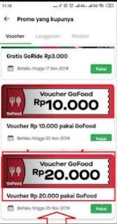 Cara mendapatkan kode voucher gratis go food dengan ttermux