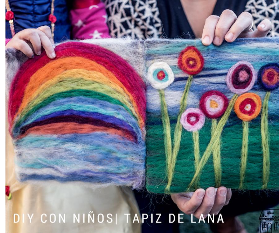 diy tapiz de lana tecnica tutorial manualidades infantil niños