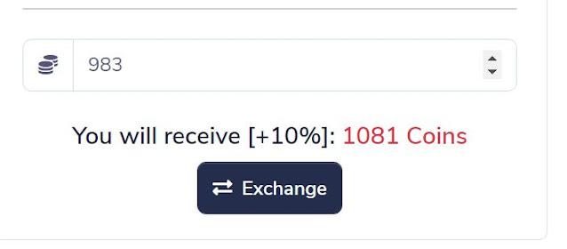 pidbux balance exchanger to get extra view