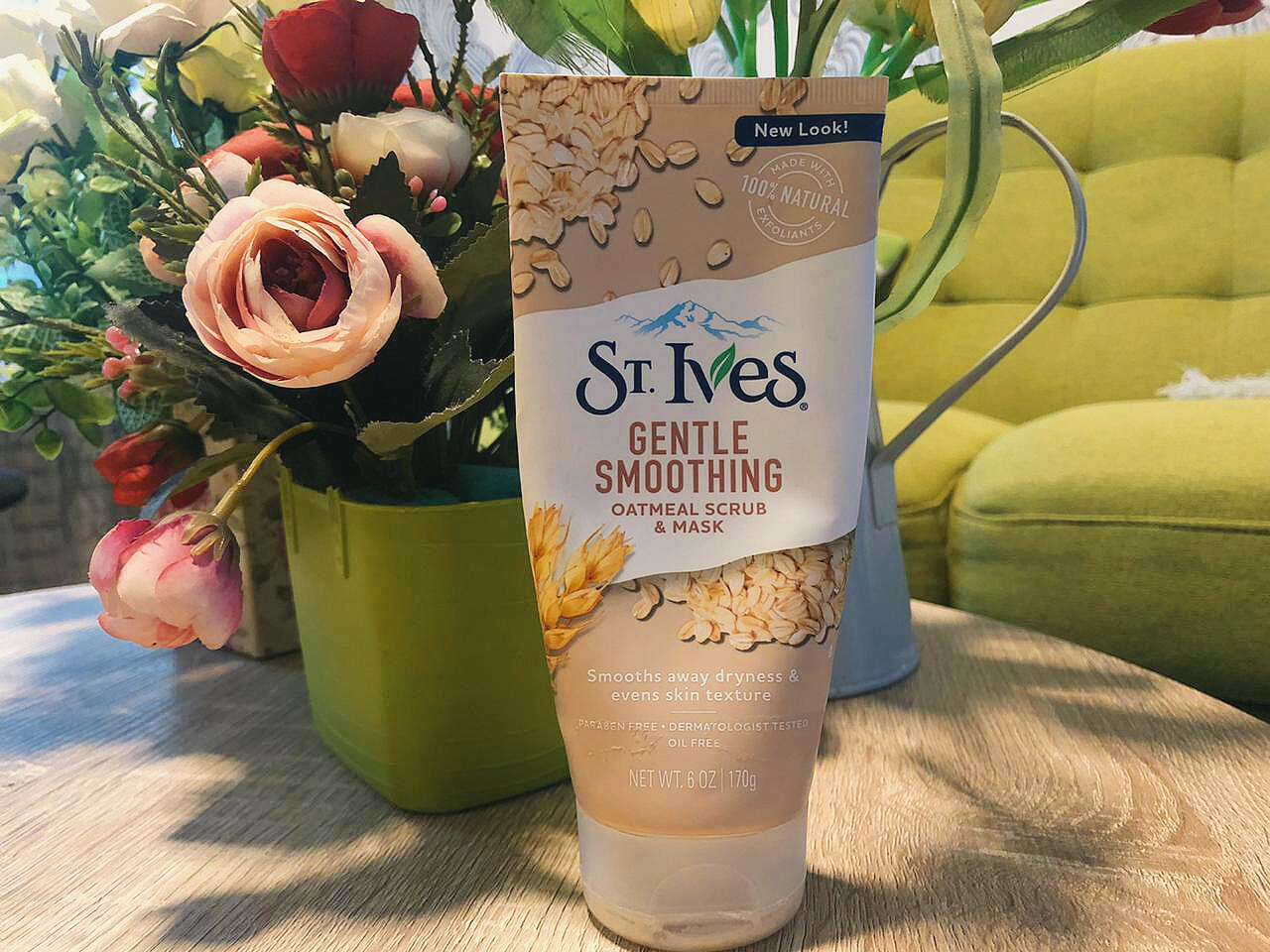 REVIEW - ST Ives Gentle Smoothing Oatmeal Scrub and Mask ...