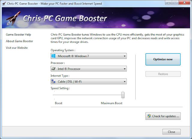 Screenshot Chris-PC Game Booster 5.40 Full Version