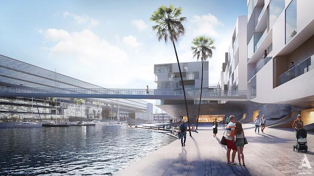 Визуализация проекта реконструкции портовой зоны в Генуе | Блог Archirost