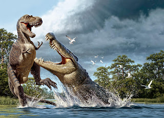 Deinosuchus vs Tyrannosaurus Rex
