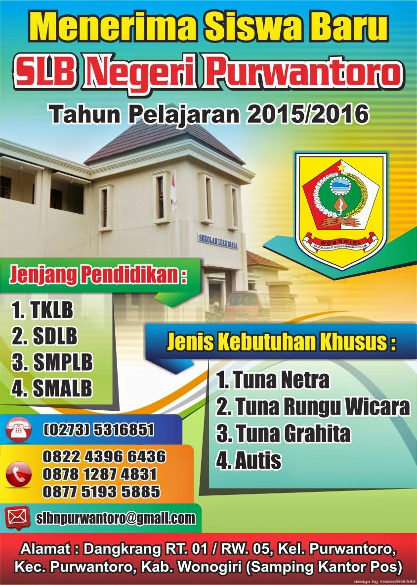 Spanduk Pendaftaran Siswa Baru Slb Negeri Purwantoro
