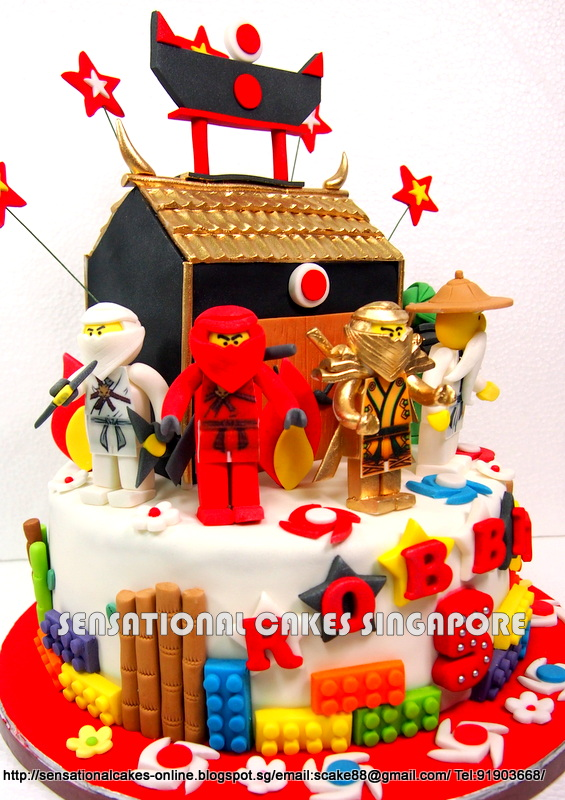 The Sensational Cakes Golden Temple Ninja Theme Cake