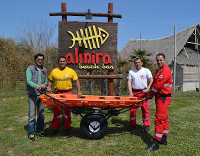 Ελληνικός Ερυθρός Σταυρός Κατερίνης - Δωρεά εξοπλισμού από το Beach Bar Almira για τους Εθελοντές Σαμαρείτες-Διασώστες του Ελληνικού Ερυθρού Σταυρού της πόλης μας.